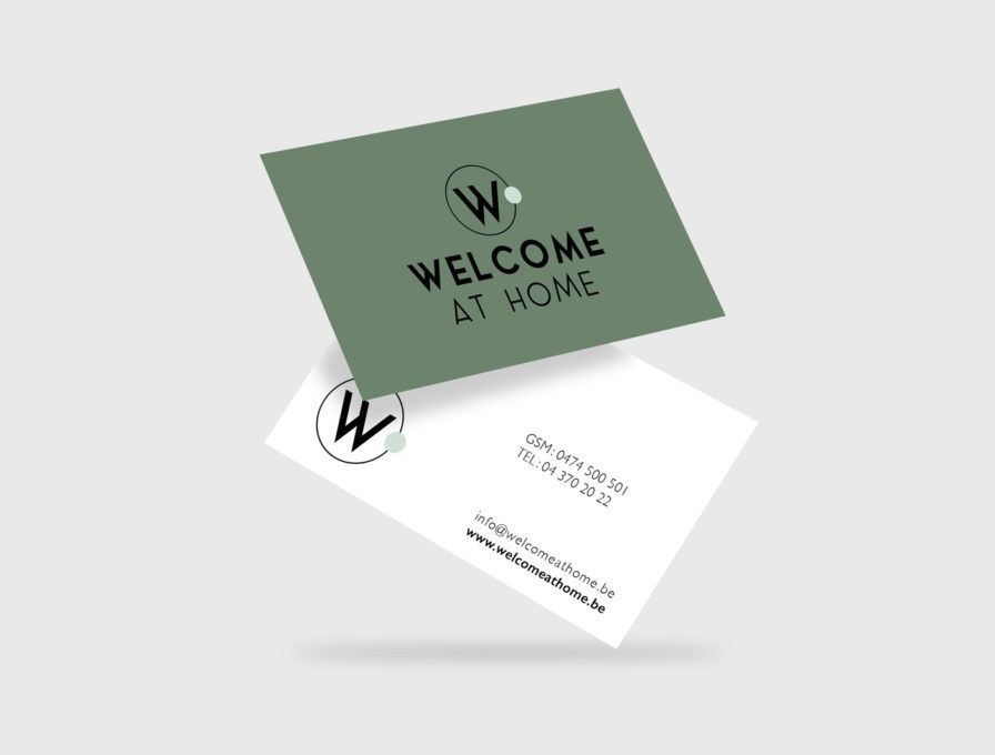 Welcome At Home - Agence immobilière, Liège - Carte de visite : GSM: 0474 500 501 - TEL: 04 370 20 22 - info@welcomeathome.be - www.welcomeathome.be